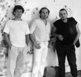 Con Sergio Monari e Omar Galliani nel 1981